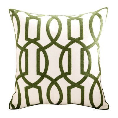 Willow Knitted Cushion - Green