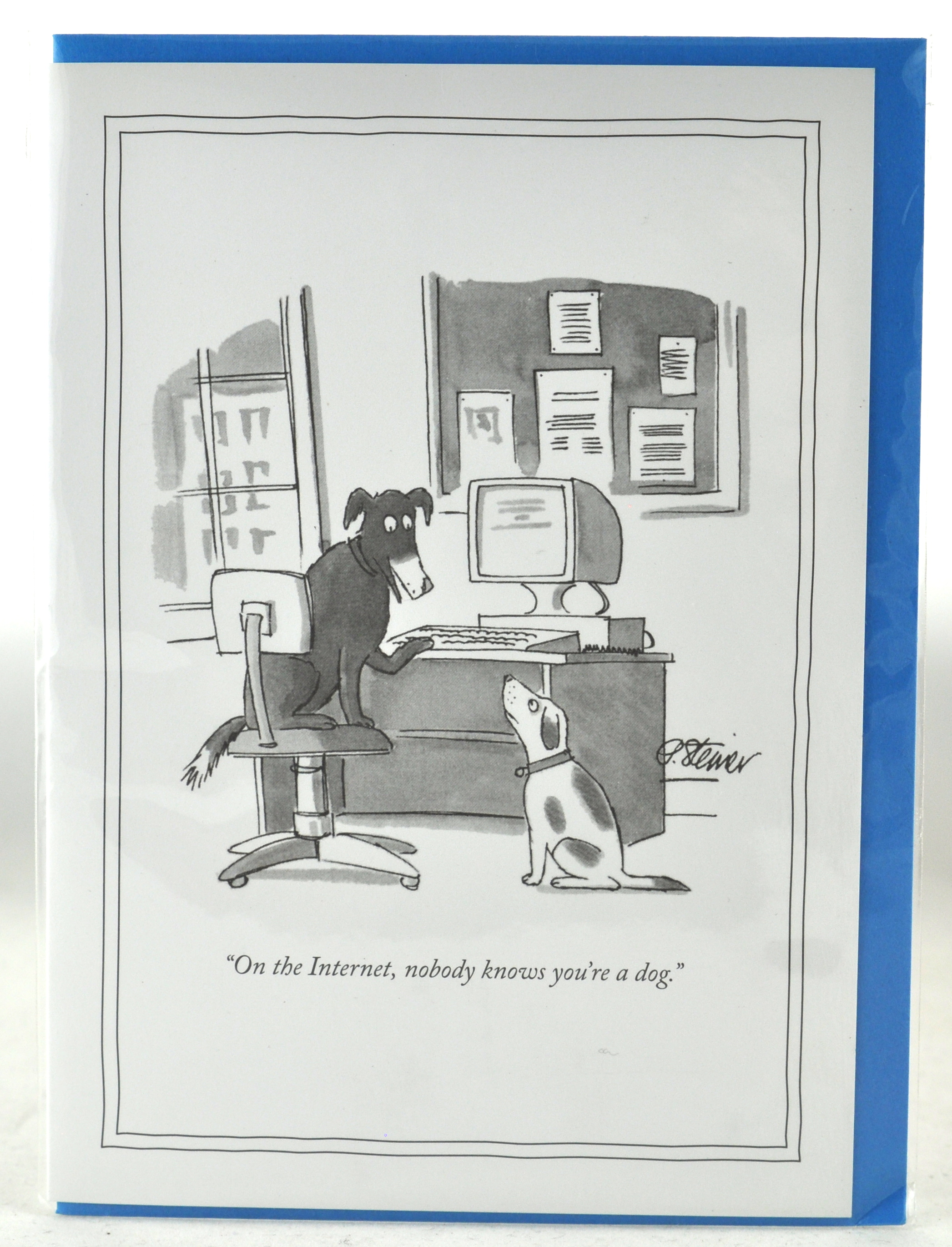 Internet dog 5 x 7 new yorker card new yorker greeting cards internet dog 5 x 7 new yorker card new yorker greeting cards funny humorous cartoons for a unique gift at hong kong home essentials m4hsunfo