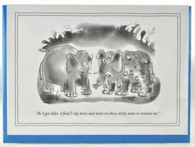 New Yorker Card - Sticky Notes