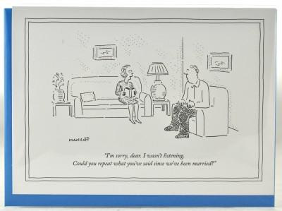 New Yorker Card - Say that again, Dear