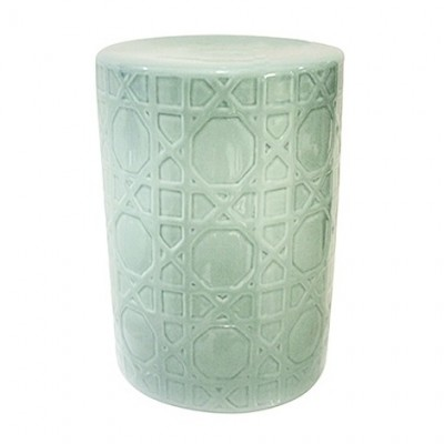 Ceramic Stool - Weave | Authentic Chinese Ceramic Stools in Bright Colors and Patterns at Hong Kong Home Essentials