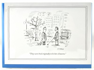 New Yorker Card - Hors' D'oeuvres