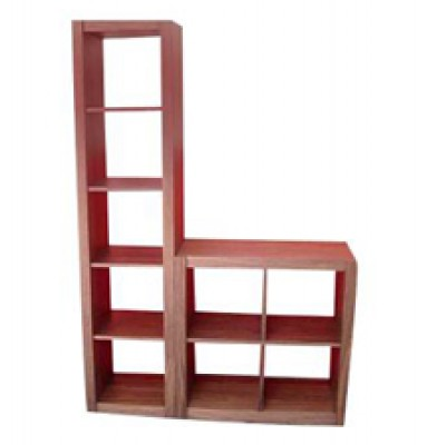 Slim bookcase Hong Kong HK Home Essentials walnut wood bookshelf