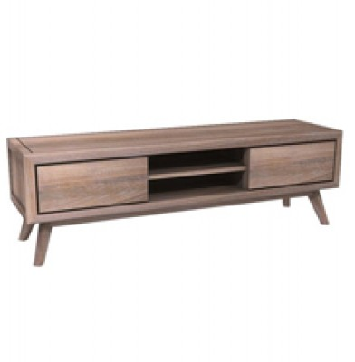 Stella Teak TV Stand, Reclaimed Teak, Solid Wood, Hong Kong, Brushed Metal television tv cabinet HK Home Essentials home furniture