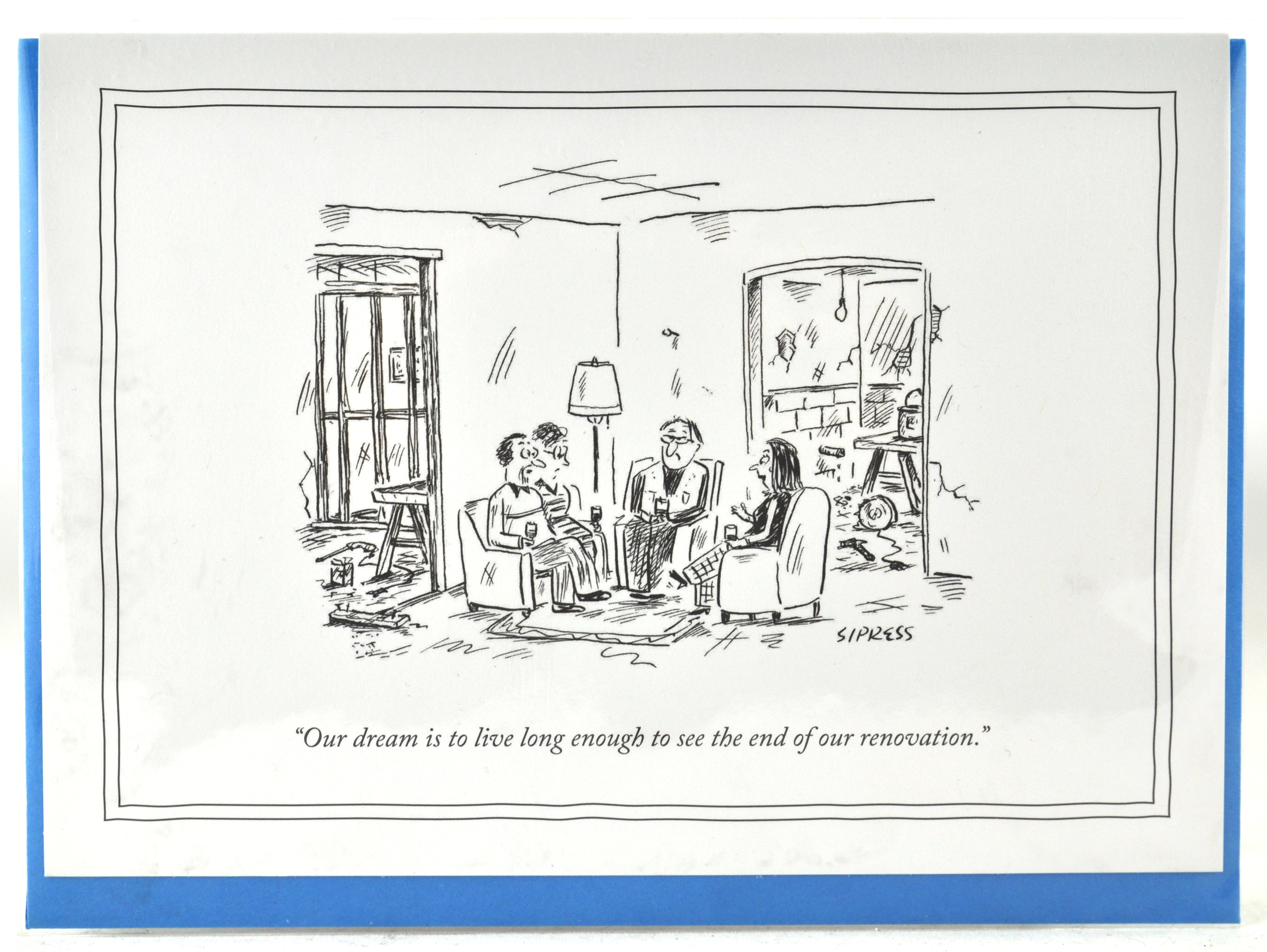 Dream renovation 5 x 7 new yorker card new yorker greeting cards dream renovation 5 x 7 new yorker card new yorker greeting cards funny humorous cartoons for a unique gift at hong kong home essentials m4hsunfo