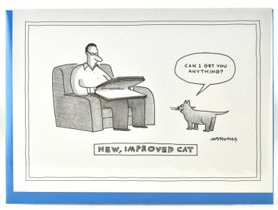 New Yorker Card - New, Improved Cat