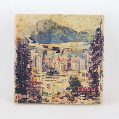Sandstone Coaster Hong Kong Kai Tak