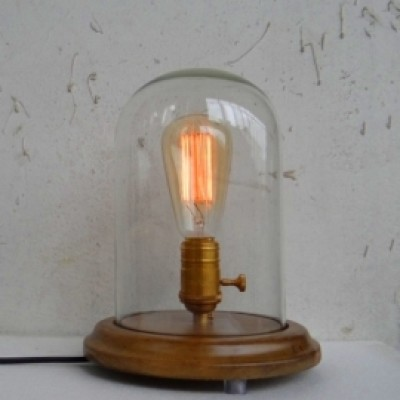 vintage glass dome edison lamp hong kong