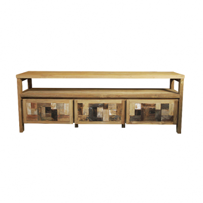 Hudson TV Stand reclaimed teak solid wood value Home Essentials Hong Kong