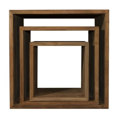 solid teak side tables cube tables end table Hong Kong Home Essentials reclaimed teak wood