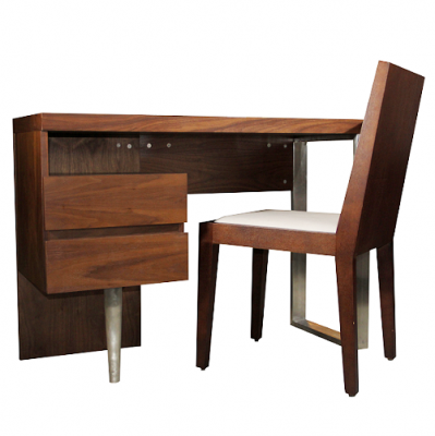 Hampstead dressing table modern desk walnut urban furniture HK Hong Kong Home Essentials
