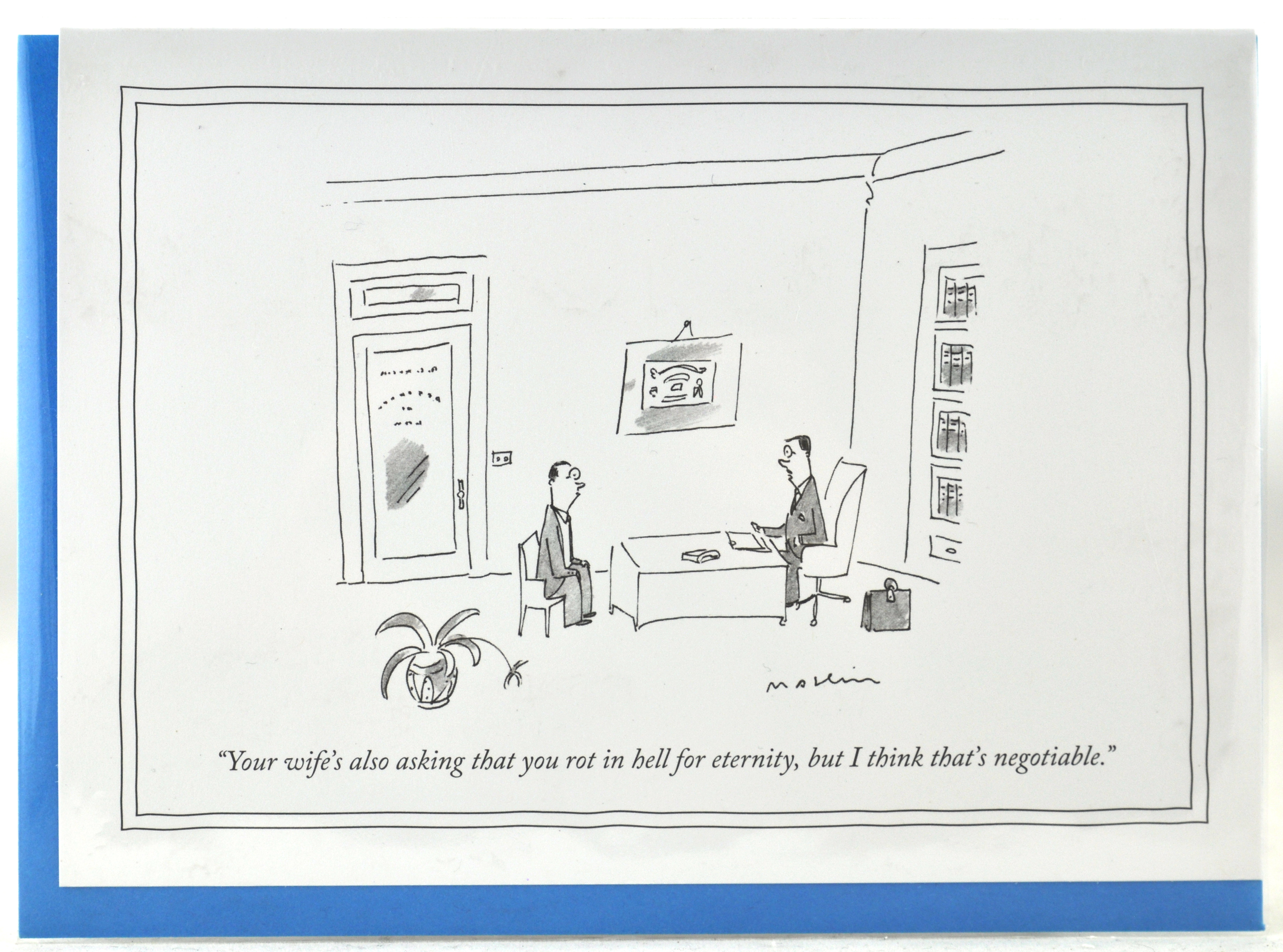 New yorker card rot in hell for eternity new yorker greeting new yorker card rot in hell for eternity new yorker greeting cards funny humorous cartoons for a unique gift at hong kong home essentials m4hsunfo