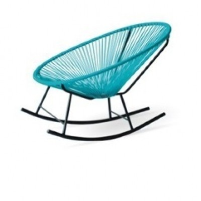 acapulco rocking-teal |  Modern Home Furniture Designer Outdoor Rocking Chair in Bright Colors for your patio terrace or roof top at Hong Kong Home Es