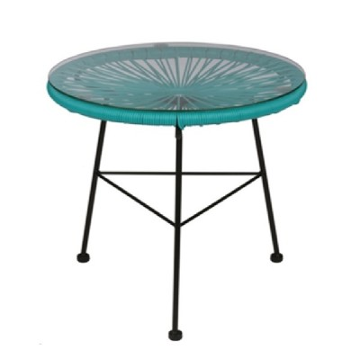 acapulco 45 teal table | outdoor furniture patio balcony table in fun colors from Home Essentials Hong Kong HK