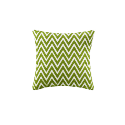 Chevron Knitted Cushion - Green