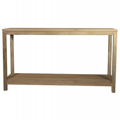 Anguila Teak Console with Shelf