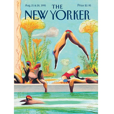 New Yorker Swimmers Poster