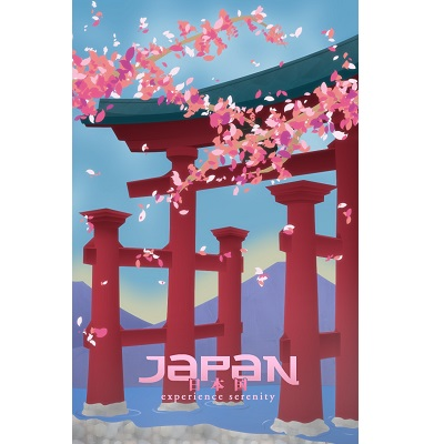 Japan Experience Serenity Poster