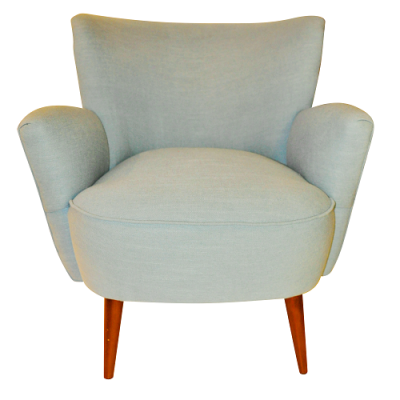 Retro Leisure Armchair - Blue