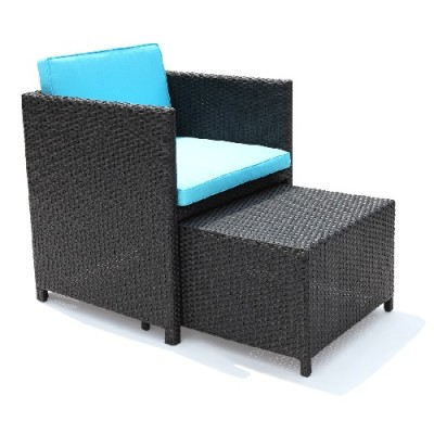 Outdoor chair with hidden ottoman Home Essentials Hong Kong HK | patio furniture outdoor furniture hong kong hk Home Essentials