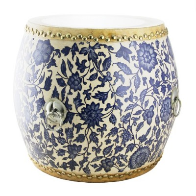 Drum - Blue White Floral