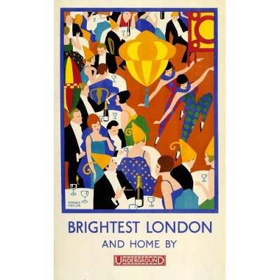 Brightest London and Home by London Underground Poster