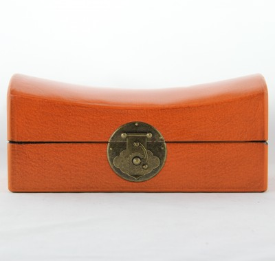 Leather Pillow Box - Orange