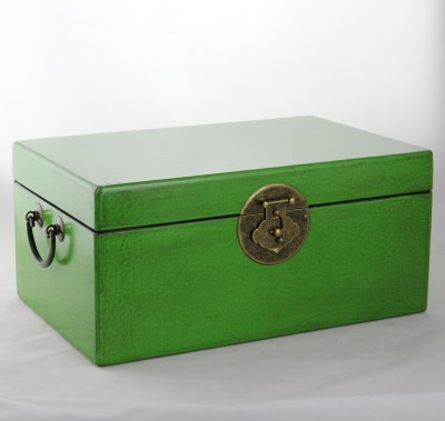 Large Leather Box - Green | leather jewelry box Home Essentials Hong Kong gift storage box