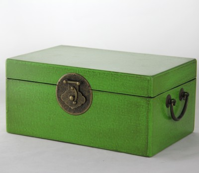 Medium Leather Box - Green | leather jewelry box Home Essentials Hong Kong gift storage box