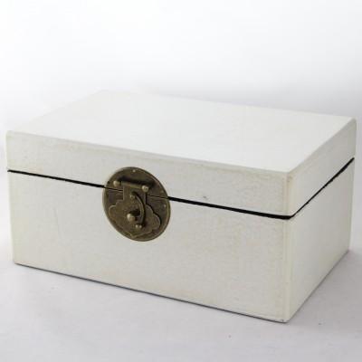 Medium Leather Box - White | leather jewelry box Home Essentials Hong Kong gift storage box