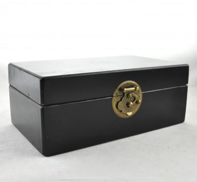 Small Leather Box - Black | leather jewelry box Home Essentials Hong Kong gift storage box