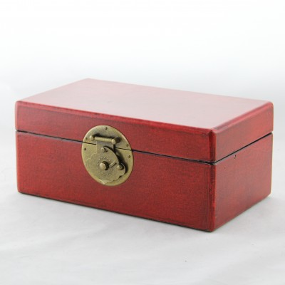 Small Leather Box - Red | leather jewelry box Home Essentials Hong Kong gift storage box