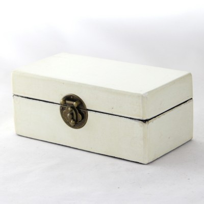 Small Leather Box - White | leather jewelry box Home Essentials Hong Kong gift storage box