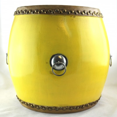Drum - Yellow | authenic hand made colorful Chinese Drums in pop colors for end table or stool or home decor in Hong Kong Home Essentials