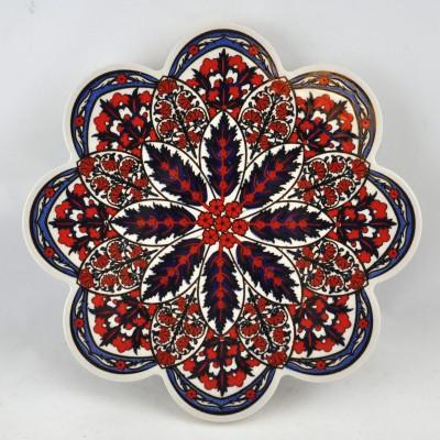 Turkish Trivet - PN-100 Red & White Floral
