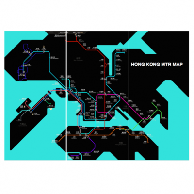 MTR Map Hong Kong | Home Essentials | Wall Art Hong Kong Home Essentials | travel posters art HK Hong Kong Home Essentials
