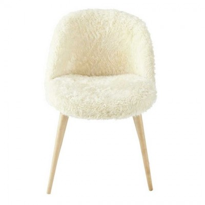 faux fur vintage chair