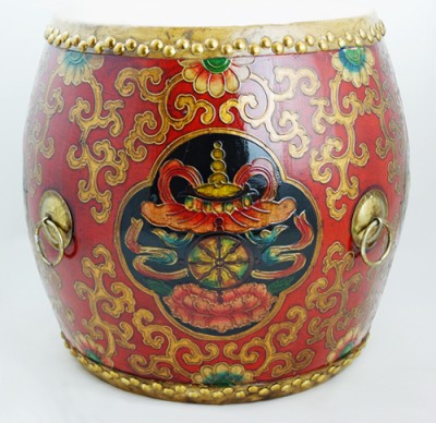 Drum China Ming Qing Ching Seat authenic hand made colorful Chinese China furniture pop colors stool HK home essential Centrel