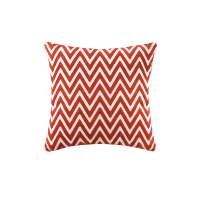 Chevron Knitted Cushion - Orange