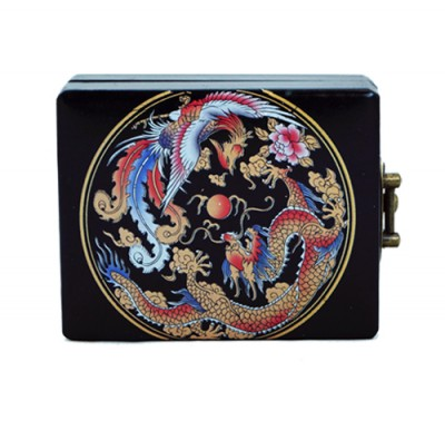 Dragon Poker Box colour Leather china  Hong Kong Home Essentials
