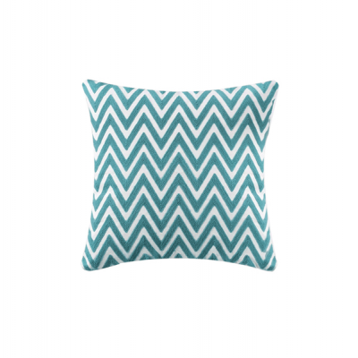 Chevron Knitted Cushion - Teal