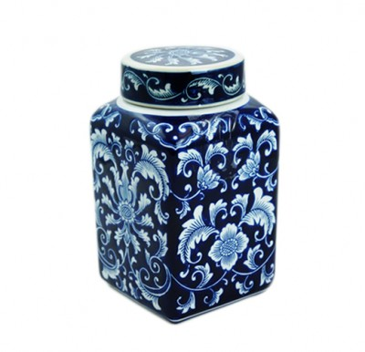 CHINESE VASE HONG KONG HOME ESSENTIALS CERAMIC PATTERN BLUE CHINA