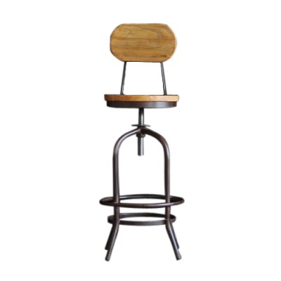 Rustic Bar Stool Wooden Wood drink club dinning chair kitchen Hong Kong Home Essentials