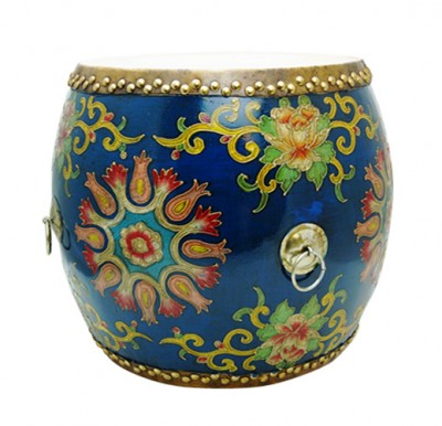 Drum China Ming Qing Ching Seat music instruments authenic hand made colorful Chinese China furniture pop colors stool HK home essential Centrel Drum