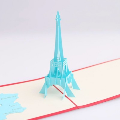 Effiel Tower 3D Greeting Card