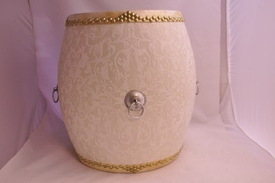 White Floral Pattern Drum/Stool Hong kong home essentials