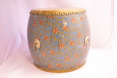 Blue w/ Gold Trim and Pink Floral Pattern (covering) Hong kong Home essentials