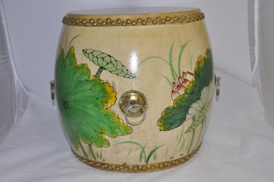 White Lotus Drum / Stool Hong kong Home Essentials