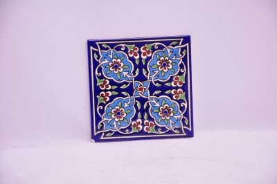Celtic Floral Pattern Square Turkish Coaster Karo-34