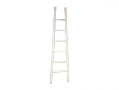 White Bamboo Ladder | Bamboo ladders Hong Kong Chinese Decoraction HK Home Essentials Central | Vivid Chinese Furnishings Home Essentials HK Hong Kong